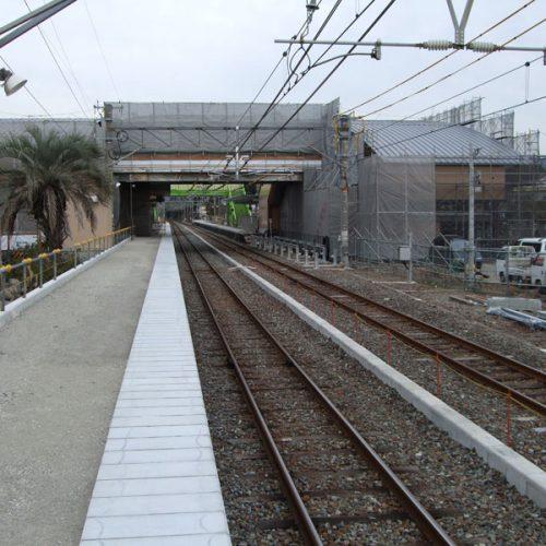 紀勢線 藤並駅 乗降場延伸工事
