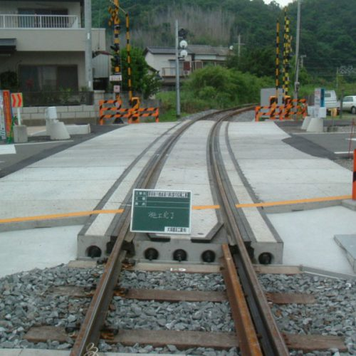 紀州鉄道 駅前新川橋線 湯川第2踏切拡幅工事